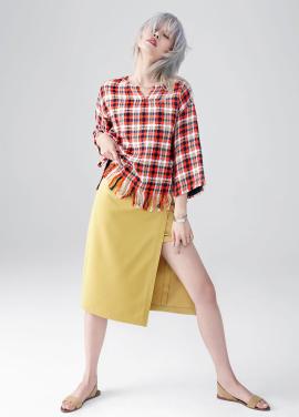Slit Layered Skirt