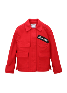 Lettering Patch Point Jacket