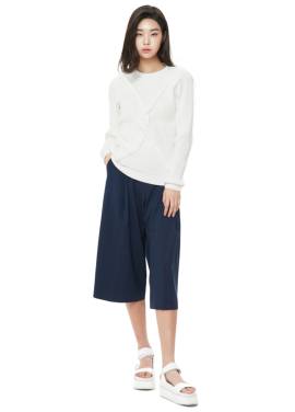 [THE STUDIO K] WIDE CROPPED PANTS