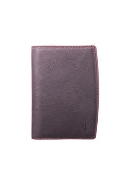 BRIOS Passport Wallet_Black Burgundy