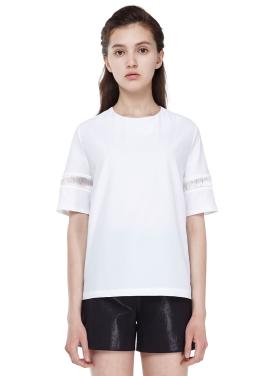 [MILLOGLEM] shining threads blouse_white