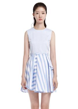 [millogrem 단독30%] scrap dress_blue