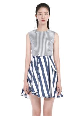 [millogrem 단독30%]scrap dress_navy