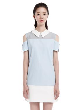[millogrem 단독30%]  shift over dress_blue