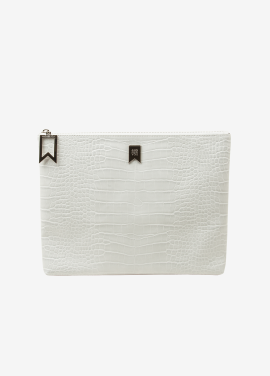 [ANDSEEYOU/10%] Mabel Clutch_white