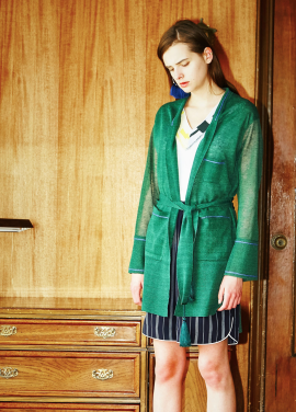 [MOONHEE/35%SALE] ROUNGE LONG CARDIGAN_GREEN