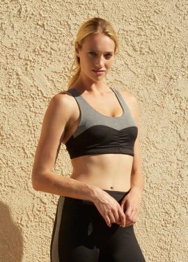 [SURFEA/20%] Classic Sports bra_GREY COMBO
