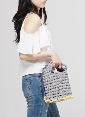 [APOCOFANFARE] basket bag pompom_4color