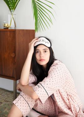 [ADD ROBE] Sleep Mask & Slipper Set_Pink