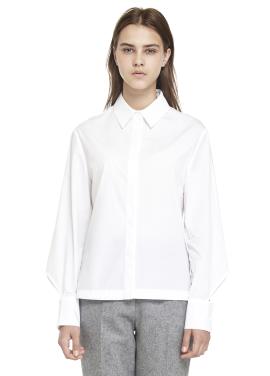 [MILLOGREM/시즌오프30%] 배누리 착용 cape back shirts_white