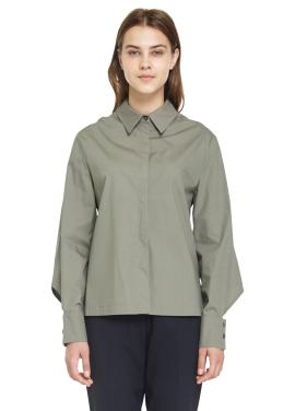 [MILLOGREM /시즌오프30%] cape back shirts_khaki