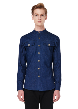 [MILLOGLEM/역시즌50%SALE]탁재훈 착용 MAN quilting denim shirts_dark blue