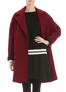 ☆ Wide Collar Wool-Blend Coat (당일배송)