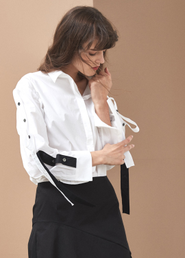 [YouNess Sleeve Connect Shirt