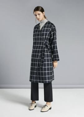 ☆Grid Pattern A-Line Fit Coats [˝불야성˝ 유이 착용]