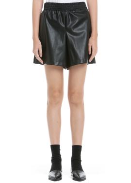 Artificial Leather Short Pants