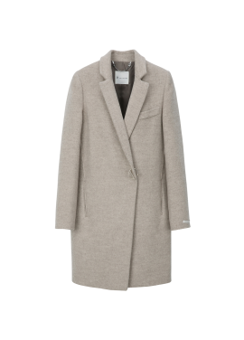 Ring Buttons Point Wool-Blend Coat