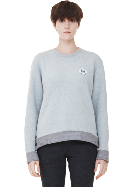 [MILLOGLEM/역시즌50%SALE]snap patch sweatshirts_women_grey