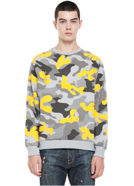 [MILLOGLEM/역시즌50%SALE]napping floc camo sweatshirts_yellow