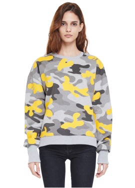 [MILLOGLEM/역시즌50%SALE]napping flock camo sweatshirts_yellow