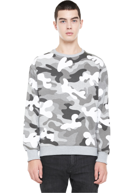 [MILLOGLEM/역시즌50%SALE]napping floc camo sweatshirts_white