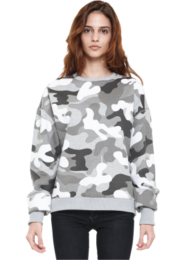 [MILLOGLEM/역시즌50%SALE]napping flock camo sweatshirts_white