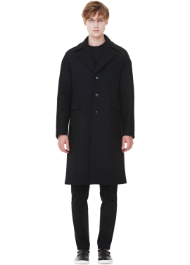 [MILLOGLEM/역시즌50%SALE]wool felt oversized coat_men_black