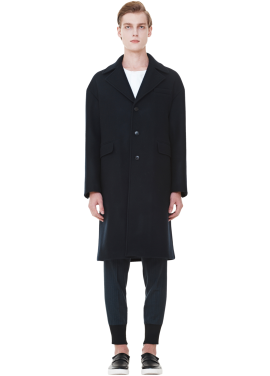 [MILLOGLEM/역시즌50%SALE]wool felt oversized coat_men_dark navy