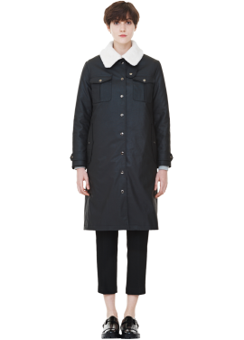 [MILLOGLEM/역시즌50%SALE]rider waxing coat_women_black
