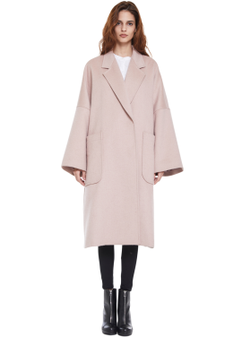 [MILLOGLEM/역시즌50%SALE]snuggle coat_pink