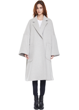 [MILLOGLEM/역시즌50%SALE]snuggle coat_light grey
