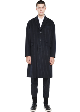 [MILLOGLEM/역시즌50%SALE]over fit stripe coat_men_navy