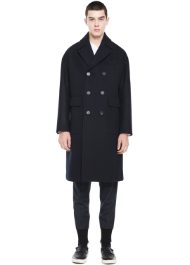 [MILLOGLEM/역시즌50%SALE] liner double coat_dark navy