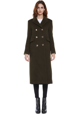 [MILLOGLEM/40%sale]AOA혜정,헤이즈착용/strap military coat_khaki