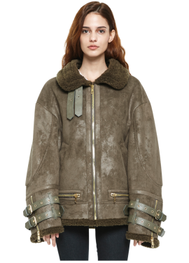 [MILLOGLEM/역시즌50%SALE]avider shearling jacket_women_khaki