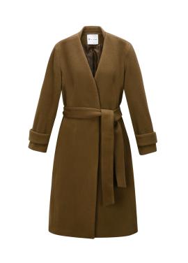 V-Neck Belted Wool Blend <br>Coat [서현진 착용]
