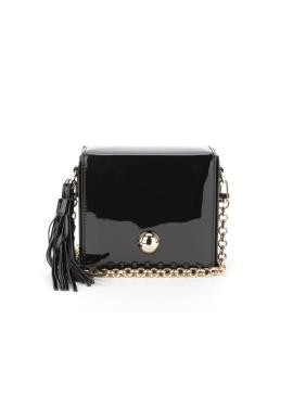 [OFF THE RECORD] Morena Box Metallic-Black Handbag