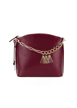 [OFF THE RECORD] Metal Tassle Red-Wine Handbag