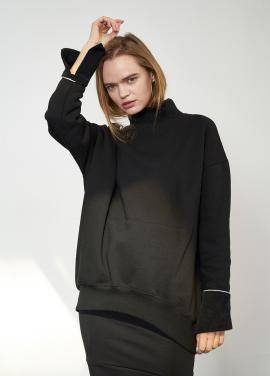 [SALON DE YOHN]High Neck Sweatshirt_Black