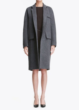 Cashmere Blend Pocket Point Coat