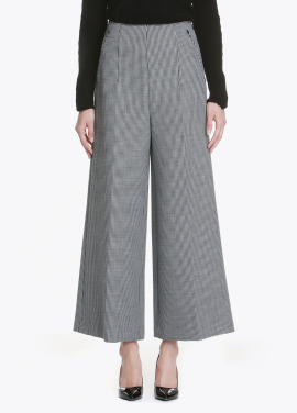 Hound's Tooth Patten Wide Pants