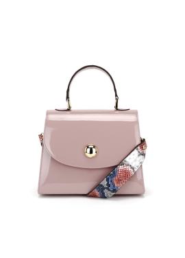 [OFF THE RECORD] Morena Round Metallic-Pink Handbag