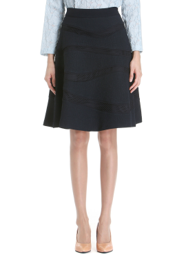 ◈ Wave Patterned Flare Skirt