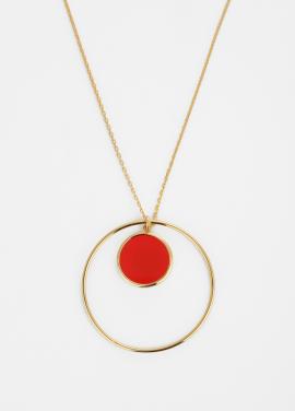 [TATIANA]TWIN CIRCULAR RED NECKLACE