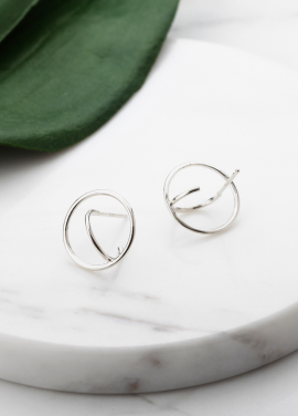 [TATIANA/트와이스 정연협찬]SABRE CIRCULAR EARRING(silver925)