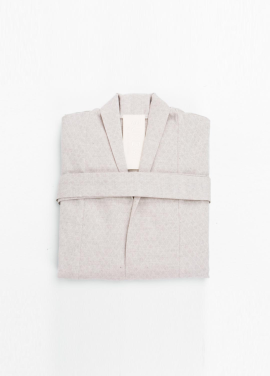 [SAFE SUNDAY/30%SALE] Homewear Robe_Jacquard Beige