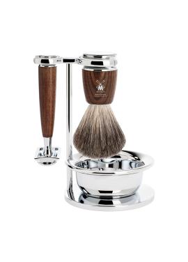 [MUHLE] Rytmo Shaving Safety 4Set - Wood Brown