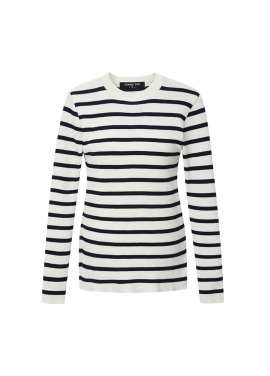 Stripe Patterned Round Neck Pullover [아이린 착용]