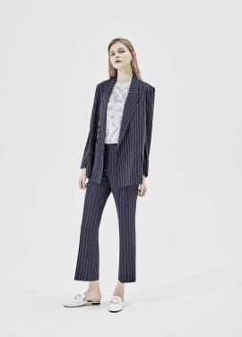 Pin Stripe Semi Wide Fit Slacks