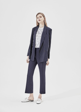 Pin Stripe Semi Wide Fit Slacks